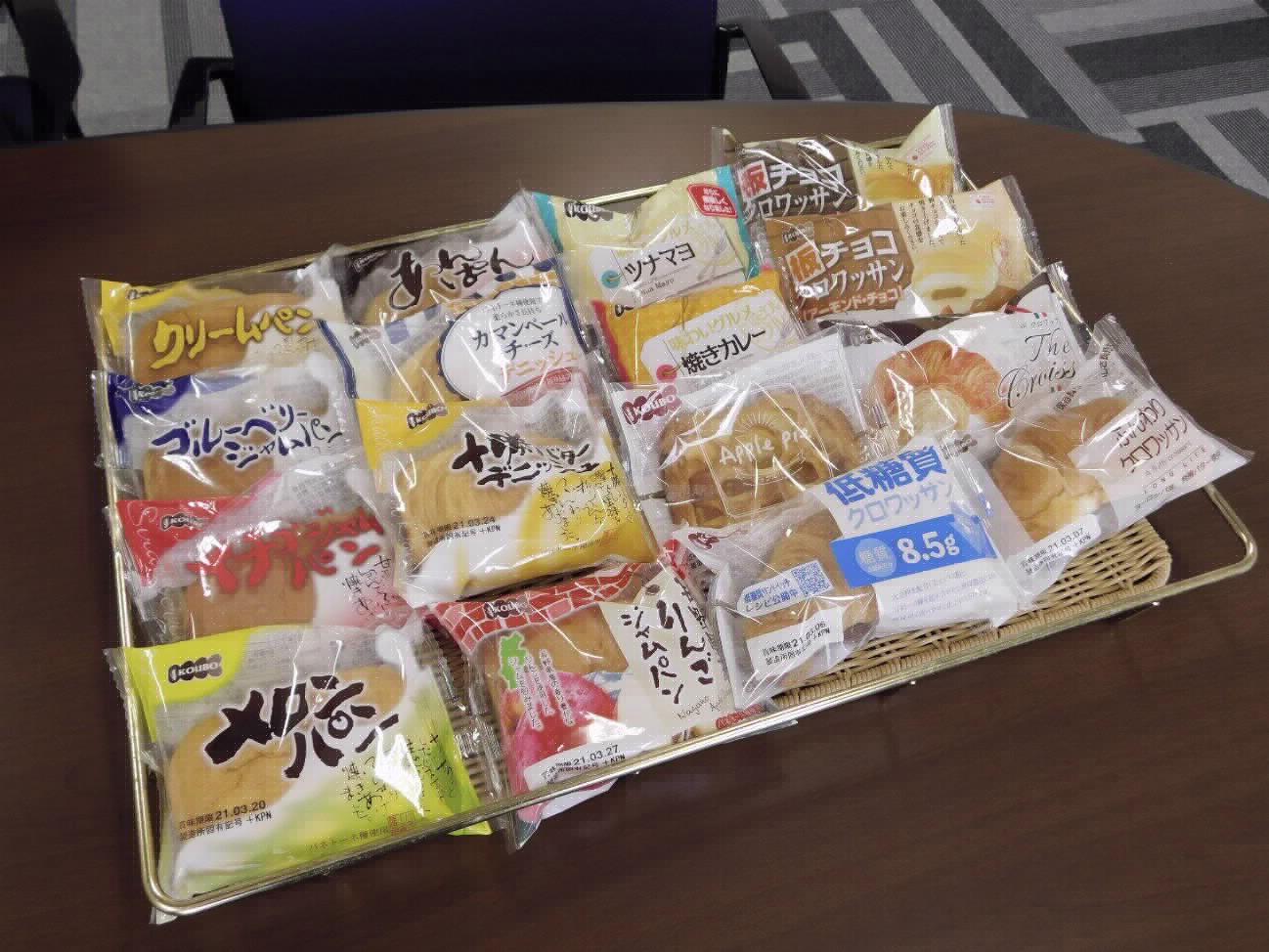パネックス様で製造している製品:特に長野県産のリンゴを使ったリンゴジャムパンとアップルパイは非常に売れているそうです