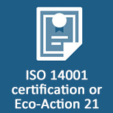 ISO14001 certification or Eco-Action 21